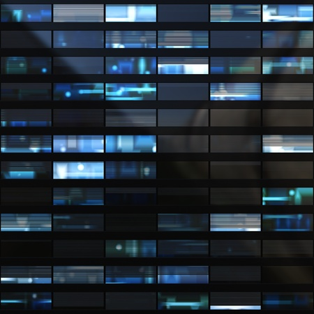 Seamless texture resembling skyscrapers windows at night photo