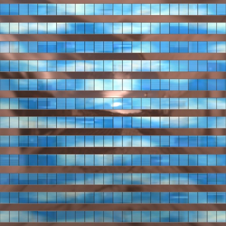 Seamless texture resembling skyscrapers windows with reflections of a cloudy sky