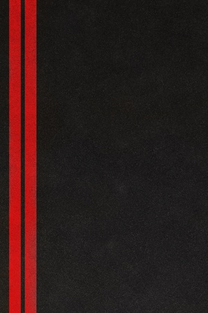 asphalt texture: Two red lines on an asphalt background Stock Photo