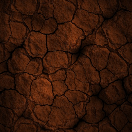 cracked earth: Seamless dry soil texture Stock Photo