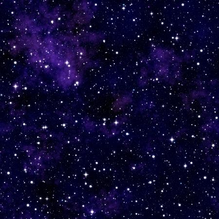 Naadloze textuur het simuleren van de nachtelijke hemel met sterren Stockfoto