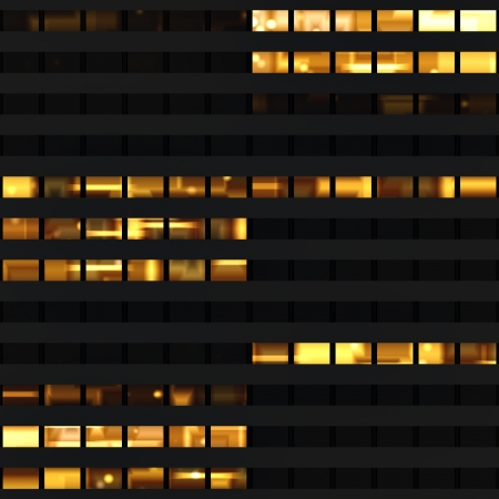 exterior shape: Seamless texture resembling windows of a modern skyscraper illuminated at night
