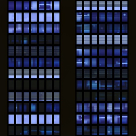 Seamless Texture Resembling Windows Of A Modern Skyscraper Illuminated At Night Stock Photo