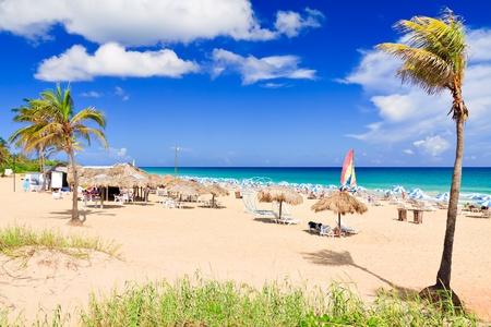 varadero: Tourists at the cuban beach of Varadero