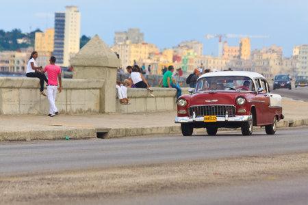 Old american classic car Havana