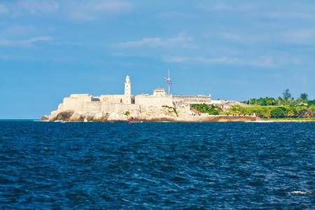 The fortress and lighthouse of El Morro, a symbol of the city of Havana photo