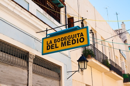 La Bodeguita del Medio, a world famous restaurant in Old Havana