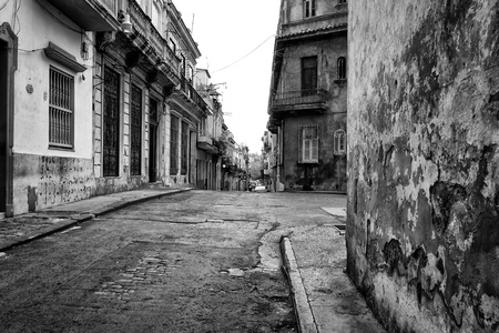 Grunge urban scene in Old Havana photo