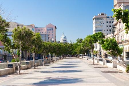 capital building: El Prado, a famous street in Havana
