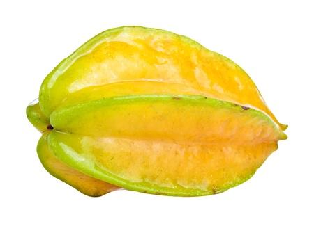 bilimbi: Whole star fruit isolated on white