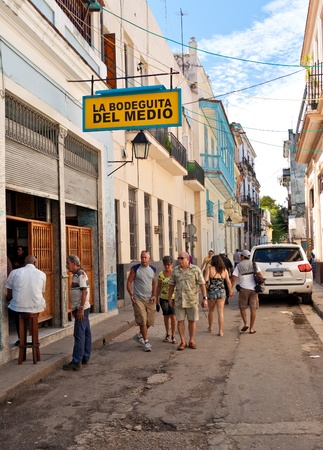 HAVANA-OCTOBER 20:La Bodeguita del Medio October 20,2011 in Havana.Since its opening in 1942,this famous restaurant has been a favourite of Ernest Hemingway and Pablo Neruda among other personalities