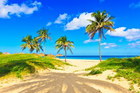 The beautiful tropical beach of Varadero in Cuba Stock Photo