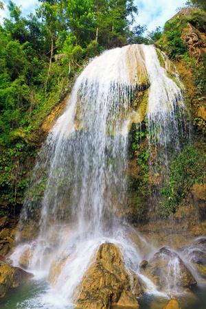 soroa: Waterfall in Soroa, a famous cuban natural landmark