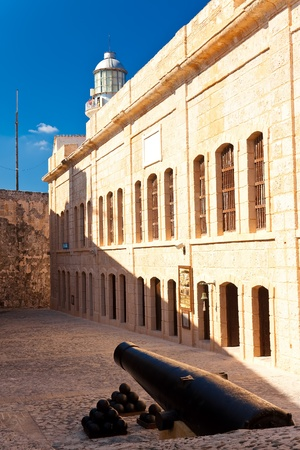 Interior view of the famous castle and lighthouse of El Morro, a Havana iconic landmark