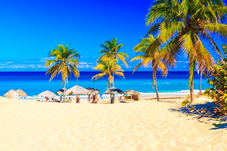 The beach of Varadero in Cuba on a beautiful summer day Stock Photo