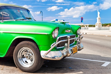 exotic car: Old classic american car 1955 Chevrolet in Havana