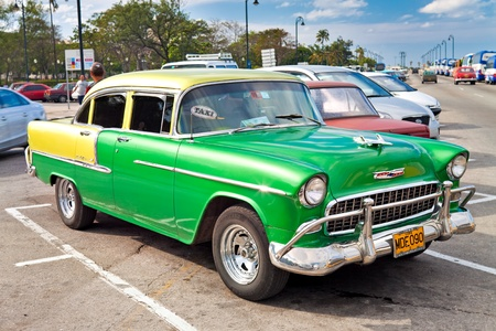 Old classic car 1955 Chevrolet in Havana