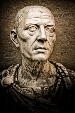 Vintage image of the roman emperor Julius Caesar photo
