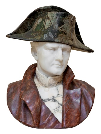 napoleon: Old marble bust of the french emperor Napoleon