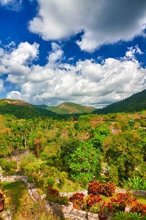 soroa: The mountains of Pinar del Rio in Cuba, a view from the Soroa botanic garden Stock Photo