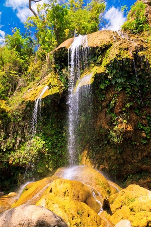 The waterfall at Soroa, a famous natural and touristic landmark in Cuba Stock Photo - 13162493