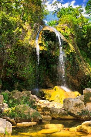 soroa: The waterfall at Soroa, a famous natural and touristic landmark in Cuba