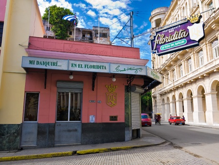HAVANA-MAY 4 The historic Floridita restaurant May 4,2012 in Havana The birthplace of daiquiri,a famous cuban cocktail,El Floridita was a favorite of celebrities like Ernest Hemingway