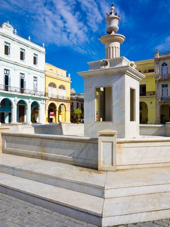 The Old Square  known in spanish as Plaza Vieja , a touristic landmark in Old Havana photo