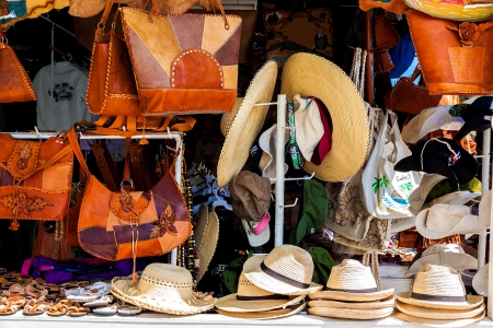 varadero: Street market selling handcrafted objects and souvenirs in the touristic town of Varadero in Cuba Stock Photo