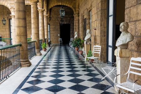 casa colonial: Palacio de los Capitanes Generales espa�olas en La Habana, este edificio bien conservado fue la residencia de los gobernadores coloniales de la isla
