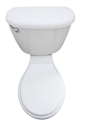 Toilet seat isolated on a white background with clipping path photo