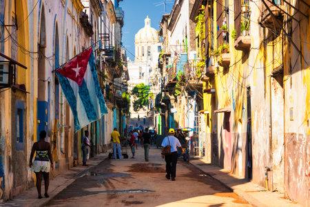 Escena de la calle en La Habana Vieja Editorial