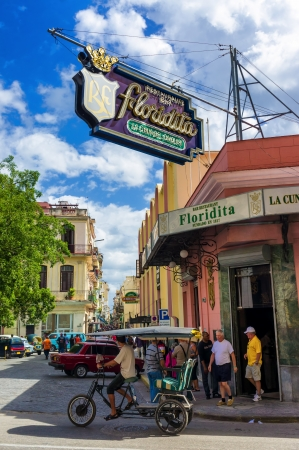 The Floridita restaurant and bar in Old Havana