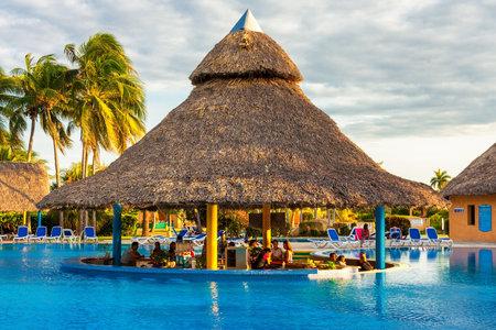 antilles: Bar at the center of an outdoors pool in Varadero