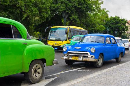 chevrolet: Classic Chevrolet on the street  in Havana