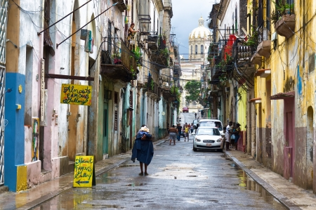 Cuban people in a typical old neighborhood in Havana Stock Photo - 17985655