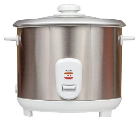 Cuiseur à riz électrique isolé sur un fond blanc avec chemin de détourage Banque d'images - 20408161