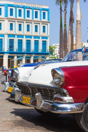 Classic car and other vintage american cars on June 21, 2013 in Havana