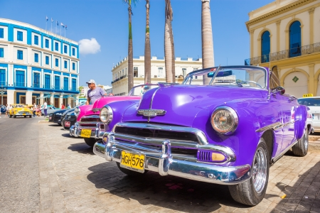 Classic chevrolet and other vintage american cars on June 21, 2013 in Havana These classic cars are a worldwide famous sight and a tourist attraction of the island