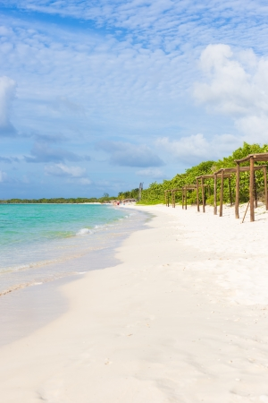 natural landmark: Beautiful beach at Coco Key  Cayo Coco  in Cuba, a natural landmark of the island Stock Photo