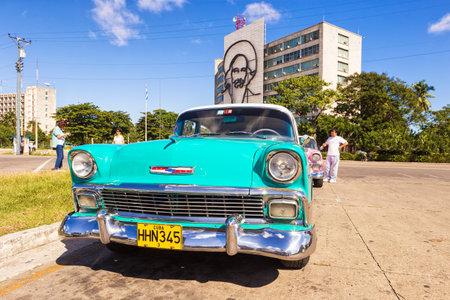 chevrolet: Classic Chevrolet in the Revolution Squarein Havana Editorial