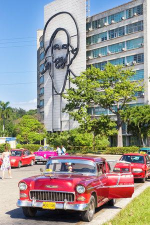 chevrolet: Classic Chevrolet in the Revolution Square in Havana Editorial