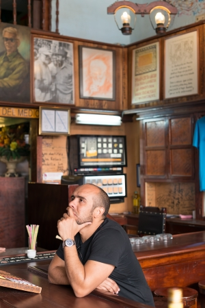 hemingway: Tourist drinking at La Bodeguita del Medio This restaurant was a favorite of Hemingway and also a big attraction for the almost 3 million tourists who visited Cuba in 2013 Editorial