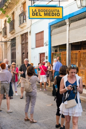 Tourists visiting the famous restaurant La Bodeguita del Medio in Old Havana The tourism industry received over 2 8 million foreign visitors in 2013 Editorial