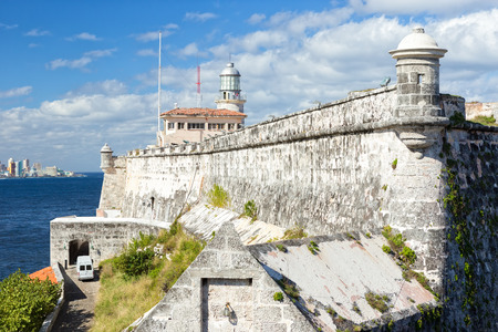 The fortress and lighthouse of El Morro in the bay of Havana photo
