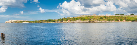 Panoramic view of the famous castle of El Morro and the old fortresses guarding the bay of Havana photo