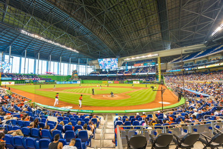 atlanta tourism: The Miami Marlins play the Atlanta Braves in a game of the Eastern Division of Major League Baseball National League Editorial