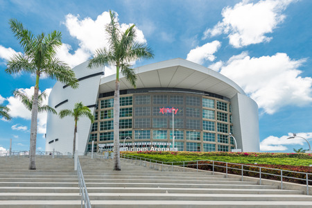american airlines: The American Airlines Arena, home of the Miami Heat professional basketball team Editorial