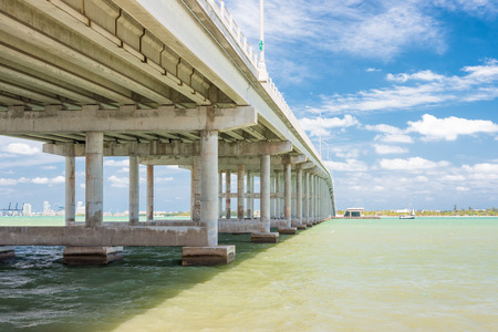 key biscayne: The bridge connecting the city of Miami to Key Biscayne Stock Photo