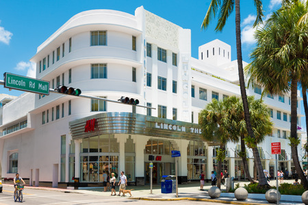 View of the Lincoln Road Boulevard in South Beach near the former Lincoln Theater